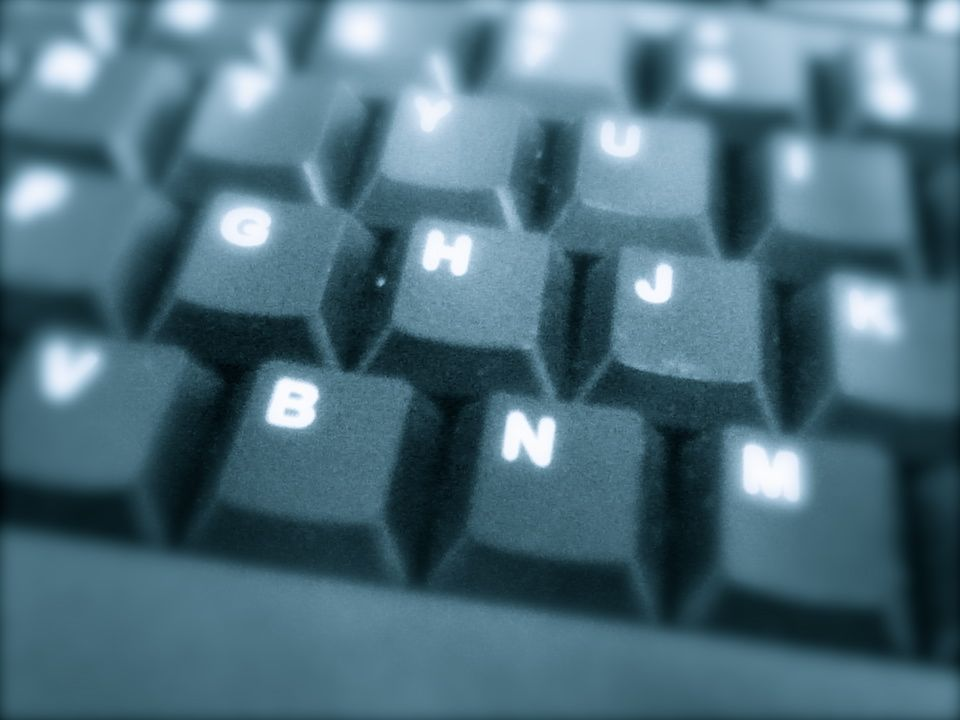 Closeup picture of a computer keyboard